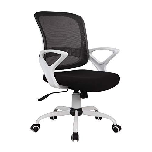Silla oficina ejecutiva Silla de escritorio de la silla de oficina ergonómica para la oficina de trabajo de oficina para el hogar Silla de malla de mediana espalda, silla giratoria y mecedora ajustabl