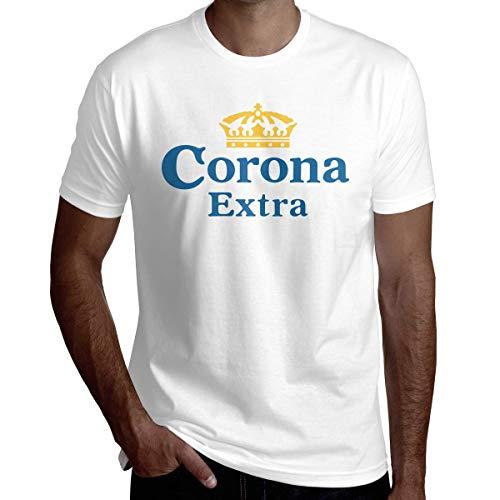 Corona Beer Logo Camiseta gr¨¢fica de Moda para Hombres y j¨Venes Camiseta de Algod¨n de Manga Corta para Verano Absorbente del Sudor y c¨Moda Camiseta para Adultos Mediana