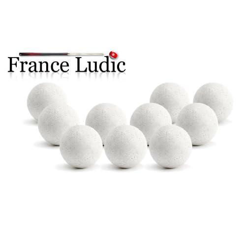 11 Balles Baby Foot Liège Blanches - Bonzini