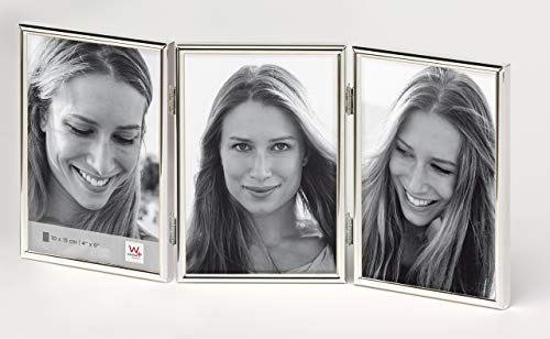 Walther design WD315S Chloe Portraitrahmen 3X 10x15 cm, silber