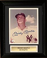 Mickey Mantle Autographed New York Yankees Signed MLB Baseball 8x10 Framed Photo JSA COA 2