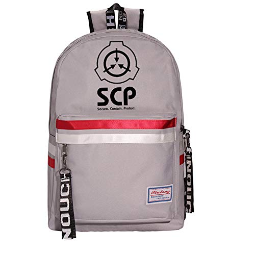 JESU SCP Printed School Backpack, Teens Bookbag Fashion School Bags, Durable Lightweight, Student Schoolbag Bag Travel,Gray3