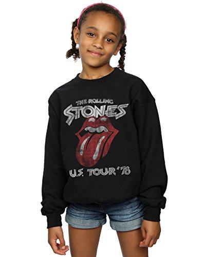 Rolling Stones niñas US 78 Tour Camisa De Entrenamiento 12-13 years Negro