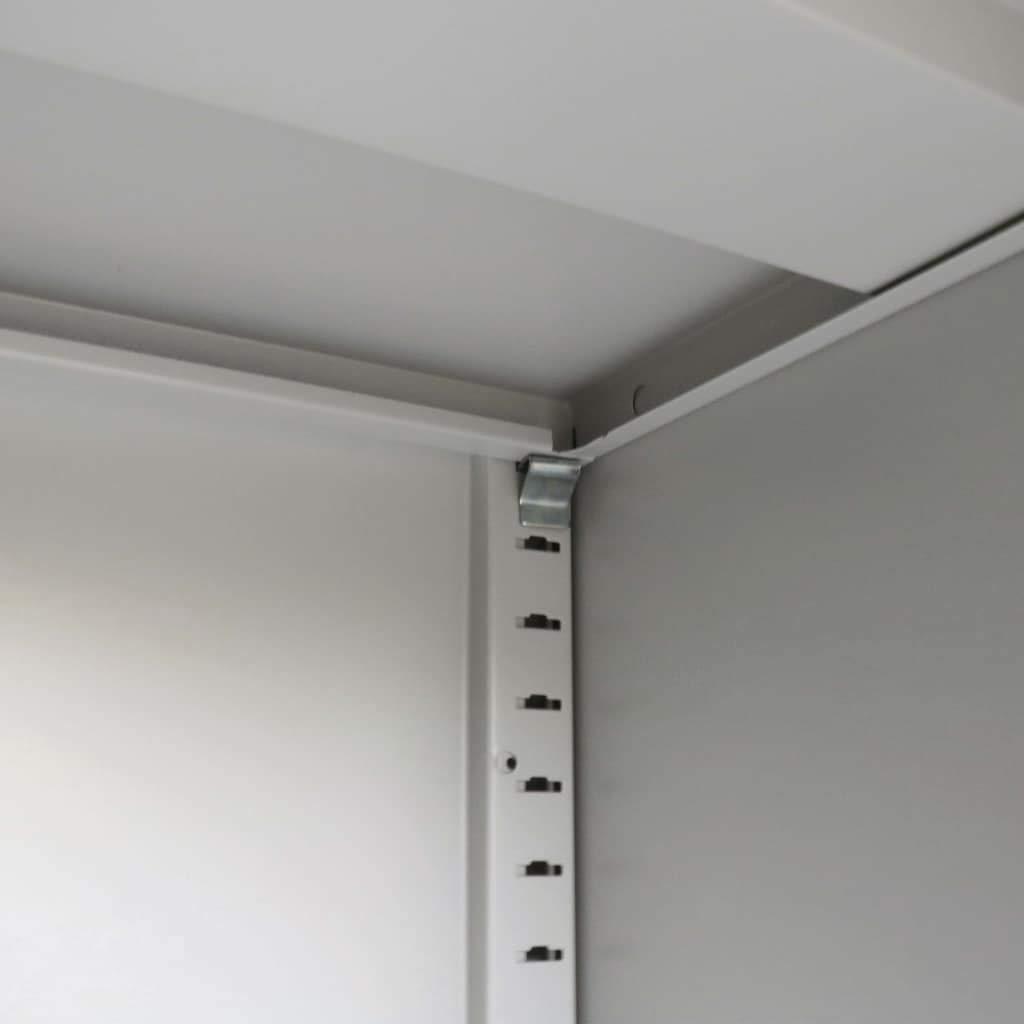 mewmewcat Armario Oficina con Puertas correderas Metal Gris, Armario Archivador de Oficina Metálico con Puertas Correderas 90x40x90 cm: Amazon.es: Hogar