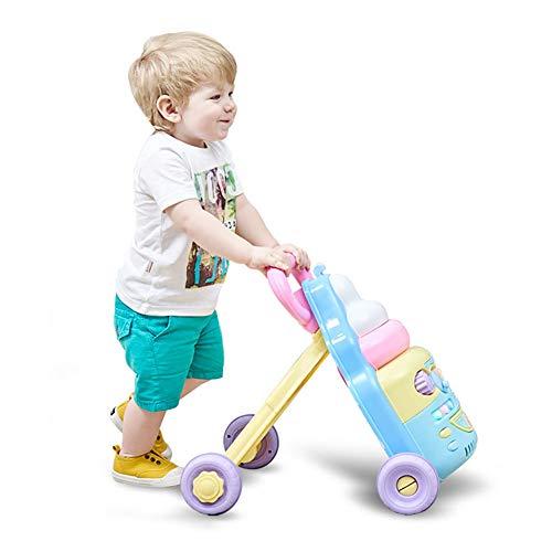 ZLMI Bébé Bambin Poussette Anti-Renversement De Protection des Jouets O-Jambes Pousser La Voiture 6-18 Mois