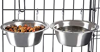 PETMAKER Stainless Steel Hanging Pet Bowls for Dogs and Cats 20 oz 80-PET6028