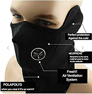 Mobistik® M9 Anti Pollution Dust Protection Half Face Bike Riding Mask for Bikers/Men/Women/Boys - Washable/Reusable (Color May Vary)