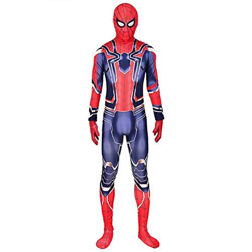 GUOHANG Bambini Adulto Supereroe Spiderman Homecoming Halloween Carnival Spider-Man Movie Costume Puntelli Costume Cosplay, Spandex/Lycra,Spiderman 9,150CM~160CM