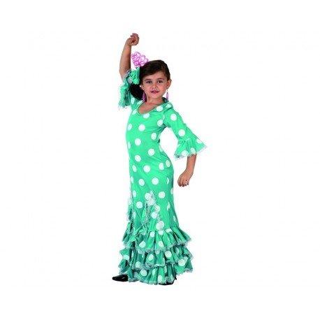 DISFRACES GILMAR Disfraz de Sevillana verde Infantil - 3-4 años