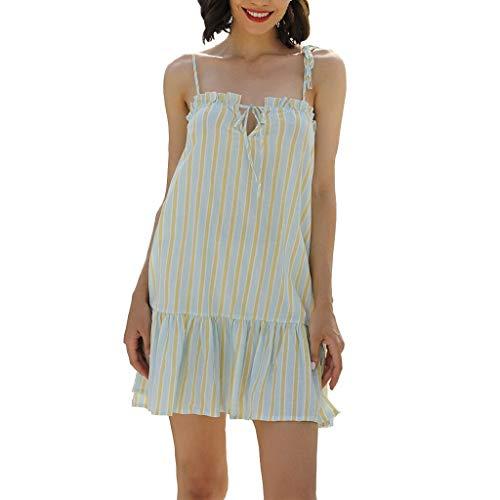 Sommer Moderne Dame Fashion Womens Sexy Zebra-Druck-Backless Leibchen Weibliche süße Prinzessin Dress # 45 Das Mädchen (Color : A, Size : L)