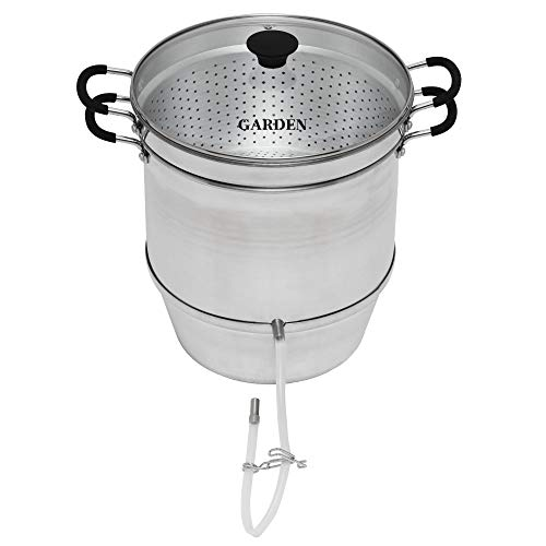 Roots & Branches Aluminum Steam Juicer with Tempered Glass Lid VKP1148