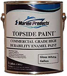 Topside Paint Gloss White Gallon Commercial Grade Enamel by US Marine Products LLC