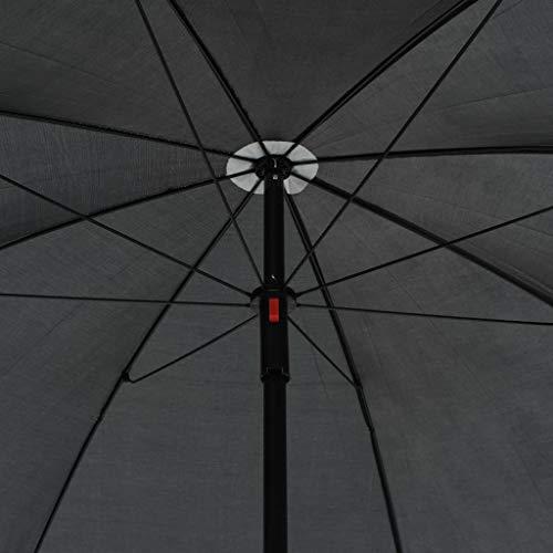vidaXL Gartenlounge mit Sonnenschirm Poly Rattan Lounge Garnitur Gartenmöbel - 8