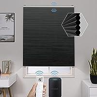 Graywind 電動 ハニカム スクリーン 1級遮光 スマート リモコン セルラー シェード 充電式 断熱 防音 省エネ UVカット ウィンドウシェード カーテンボックス付き オーダーメイド ブラック