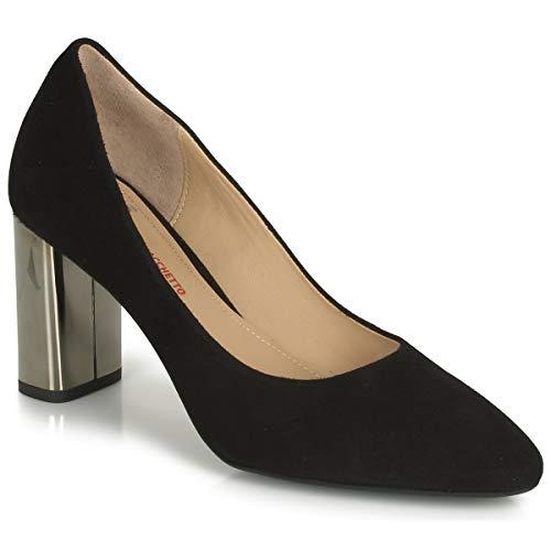 Perlato 11309-cam-noir Pumps Damen Schwarz/Silbern - 37 - Pumps Shoes