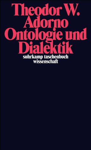 Ontologie und Dialektik: (1960/61) (suhrkamp taschenbuch wissenschaft)