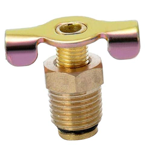 "Generic NPT 1/4"" Solid Brass Drain Valve Compressor Air Tank Port Fittings Petcock Water Drain Valve Replacement Part"