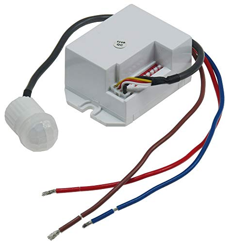Inbouw-bewegingsmelder ''CT-PIR Mini'' 230 V, 800 W, Ø 15 mm, geschikt voor LED, wit