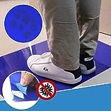 GHSY 30 / 60Pcs Tappetino Antibatterico Staccabile Antibatterico Tac/PVC appiccicoso tappetini/Cuscinetti Adesivi Tappetini Rimovibili per la Pulizia Senza Polvere (30pcs (45 * 60cm))
