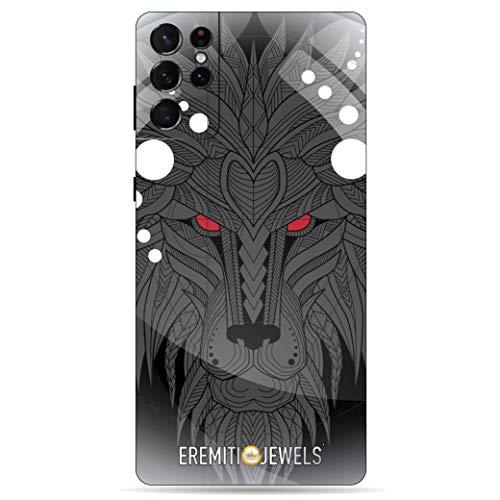 EREMITI JEWELS Cover per Samsung-Leone Grigio-Compatibile (Galaxy S7 Edge)