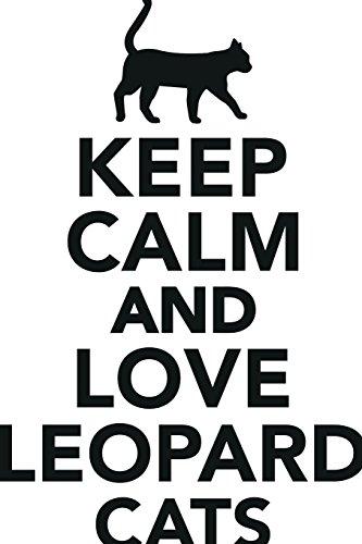 Keep Calm Love Leopard Cats Workbook of Affirmations Keep...