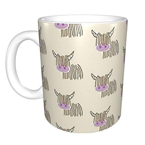 Taza de café de cerámica crema de vaca para jugadores
