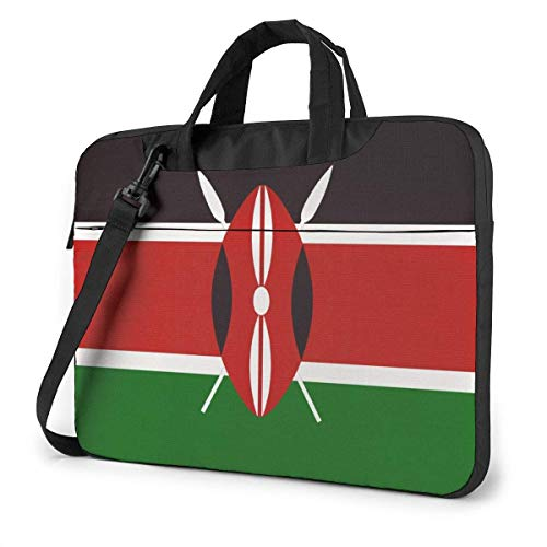 Adults Student Laptop Bag Protective Notebook Computer Protective Cover Handbag Republic Kenya National Flag