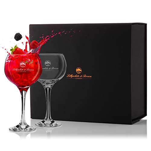 Copas de Ginebra Premium de Lillywhite & Brown – Copas de Balón Grandes de Cóctel, Vino o G&T – Juego de 2 – (680ml)