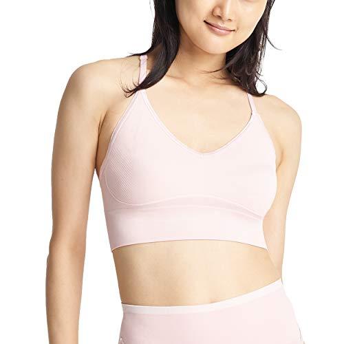 Yummie Women's Ultralight Seamless Lace T-Back Bralette, Lotus, S/M