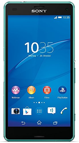 Sony Xperia Z3 Compact Smartphone (11,7 cm (4,6 Zoll) HD-TRILUMINOS-Display, 2,5 GHz-Quad-Core-Prozessor, 20,7 Megapixel-Kamera, Android 4.4) meergrün