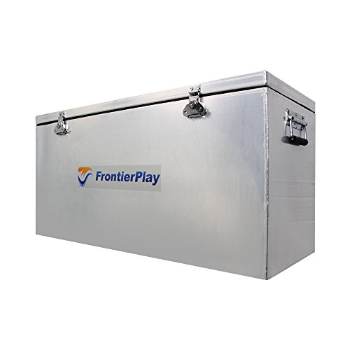 """FrontierPlay Aluminum Waterproof Utility Storage Dry Adventure Box Container with a Double Seal (42"""" L x 16"""" W x 18"""" H)"""