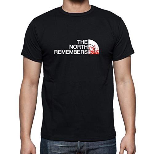 The Fan Tee Camiseta de Hombre Juego de Tronos Stark Tyrion North Daenerys Khaleesi Face Arya