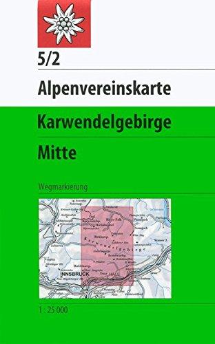 Karwendelgebirge, Mitte: Topographische Karte 1:25.000 (Alpenvereinskarten)