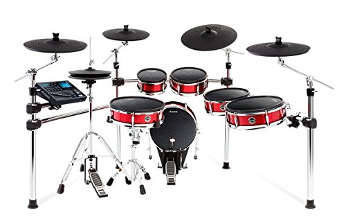 Alesis Strike Pro Kit | Eleven-Piece Professional Electronic Drum Kit with Adjustable Mesh Heads, 110 kits and over 1600 multi-sampled instruments