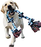 LECHONG Dog Rope Toys for Aggressive Chewers Tough Rope Chew Toys for...