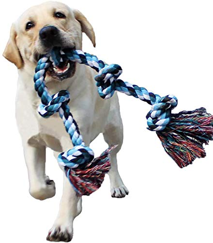 LECHONG Dog Rope Toys for Aggressive Chewers