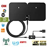 1byone Outdoor Paper Thin Digital HDTV Antenna with 100 Miles Range