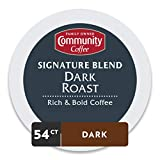 Community Coffee Signature Blend Dark Roast Single Serve K-Cup Coffee Pods, Box of 54 Pods