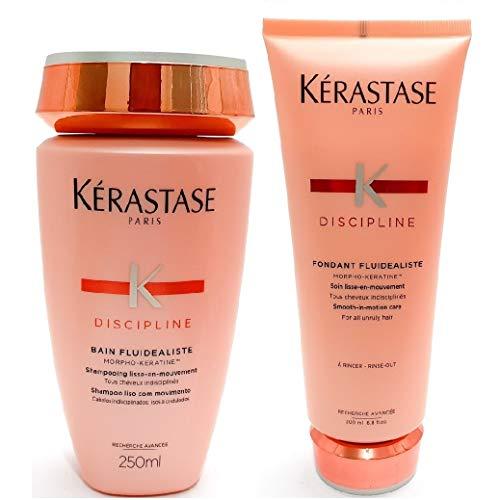 Kit Kérastase Discipline Fluidealiste Shampoo 250ml + Fondant Fluidealiste 200ml (2 produtos)