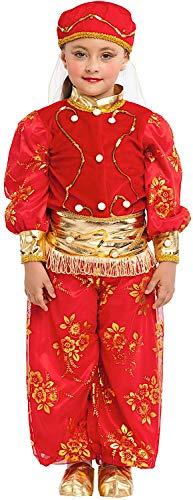 VENEZIANO Costume Carnevale da ODALISCA Baby Vestito per Bambina Ragazza 1-6 Anni Travestimento Halloween Cosplay Festa Party 1097 3 Anni