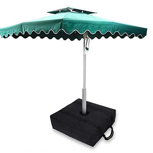 Bolsa de peso para la base del paraguas, soporte cuadrado para sacos de arena, diámetro del orificio central 8-9 cm, peso de la base del paraguas Pies del parasol Bolsa de peso para la base de la tien