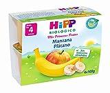 HiPP Biológico, Potito de postre para bebé (Manzana, Plátano) - 6 de 4 tarritos (Total 24...
