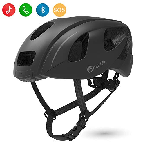 Smart4u Smart Helmet with LED taillight & Turn Indicators,SOS Alert,Bluetooth Phone One Button...