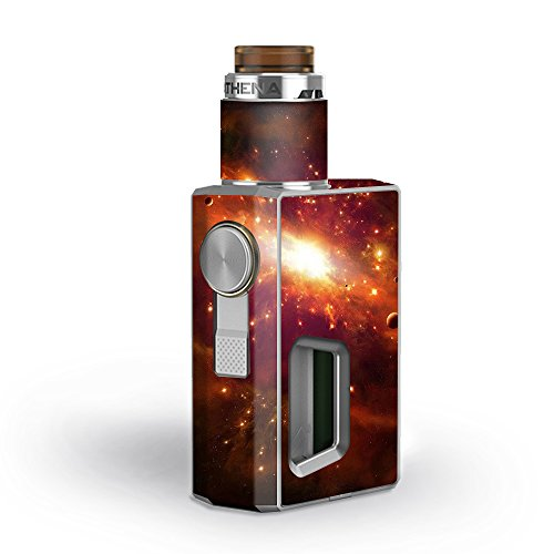Skin Decal Vinyl Wrap for GeekVape Athena Squonk Kit Vape Kit skins stickers cover/ galaxy orange nebula