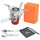 Extremus Portable Camping Stove, Backpacking Stove, Hiking Stove, Pocket Stove, Mini Camp Stove, Compact Wind Resistant Camping Stove for Backpacking, Hiking, Camping, and Tailgating, Ultralight