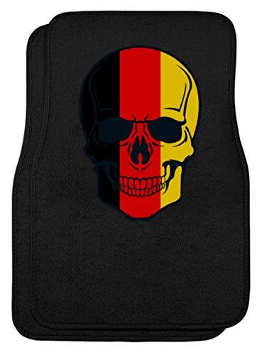 Generisch Belgian Skull - doodshoofd België kleuren - zwart rood goud - zwart rood goud - automatten