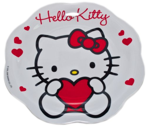 Plato llano de plástico Hello Kitty para la escuela