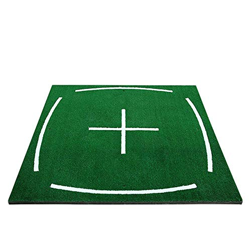 Great Features Of QPABS SHOPS Golf Practice Ball Mat Simulation Nylon Grass Ball Mat with Anti-Slip ...