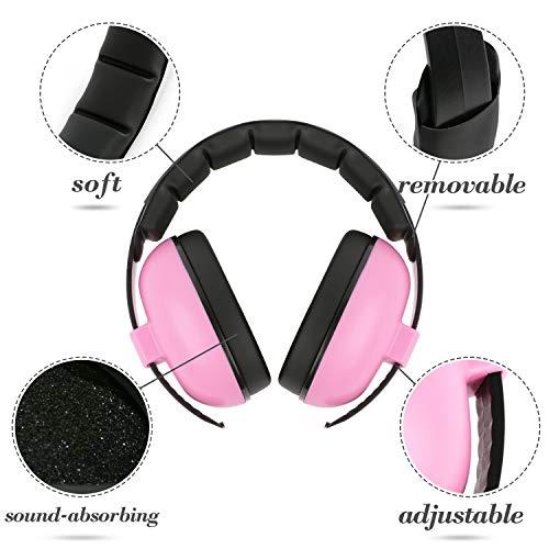 Scotamalone Baby Gehörschutz Baby Gehörschutz Ohrenschützer Noise Reduction Headphone für Baby und Kind, Baby Ohrenschützer (Alter 3-24 + Monate), Soft & Adjustable, Baby Gehörschutz Rosa