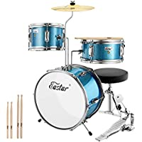 Eastar 14 Inch Drum Set for Kids with Adjustable Throne